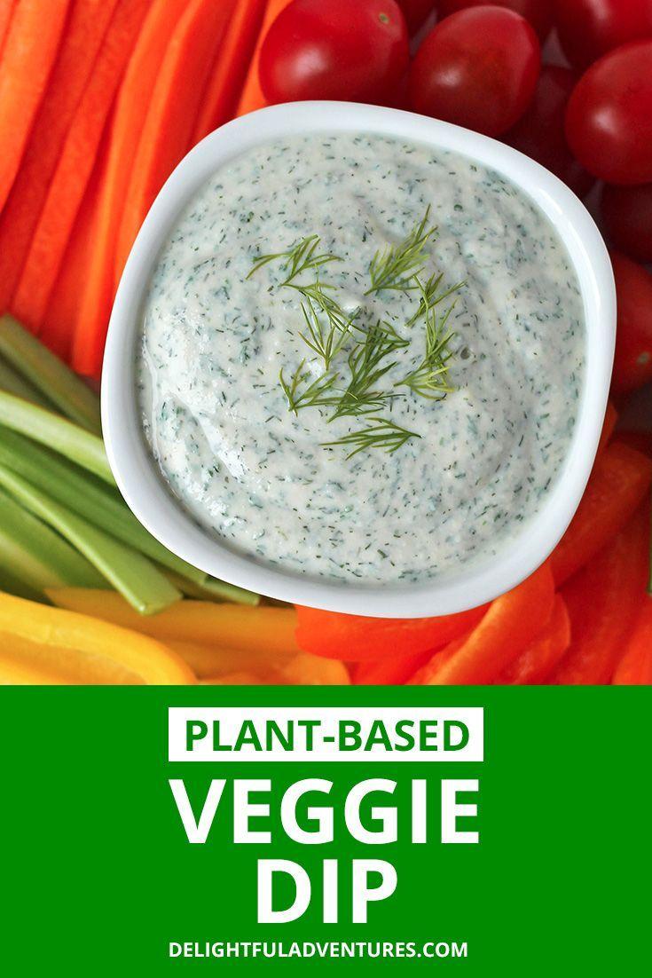 Creamy Vegan Veggie Dip Recipe Vegan Appetizers Recipes Veggie Dip Vegan Appetizers