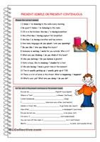 This is the worksheet to help kids to understand the difference between two tenses. As far as it is difficult for them to put the verbs into correct tense themselves, I created this worksheet where they can only choose the correct variant. Hope it will be useful.I'm very thankful for this wonderful template to http://www.eslprintables.com/printable.asp?id=376833#thetop - ESL worksheets