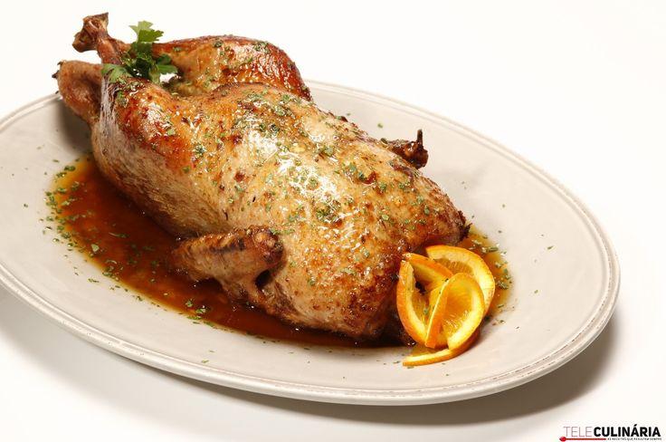 Pato corado com geleia de marmelo