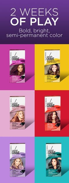 Put a little luxe in your locks with Clairol Color Crave semi-permanent hair color. Rock the latest trends with confidence – Orchid, Indigo, Flamingo, Scarlet and other bright, bold shades. Flaunt your fearless today.