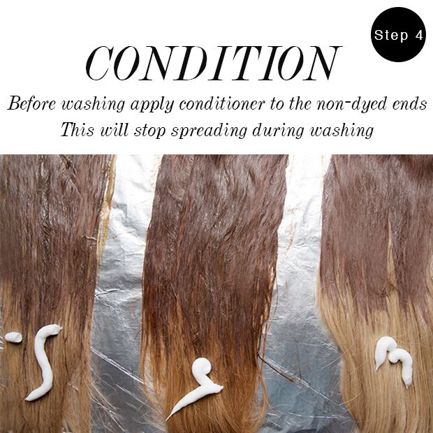 How to condition your newly-dyed ombre hair extensions