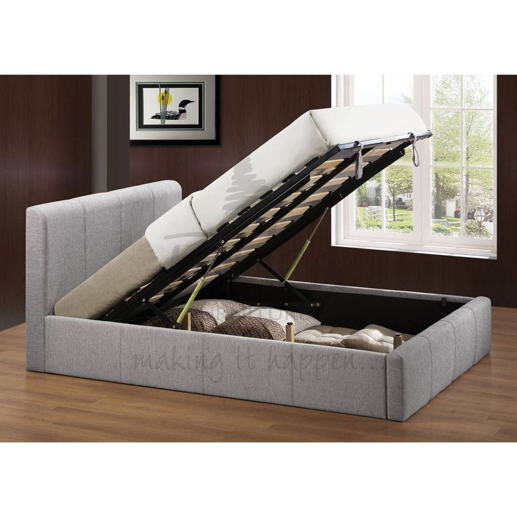 This Bonsoni Stylish Upholstered Small Double Brooklyn Ottoman Fabric Bed  Frame Grey is a beautiful piece of Bed demostrating the Bonsonis unparallel  ... - 85 Best Images About Beds On Pinterest Ottomans, Grey Fabric And