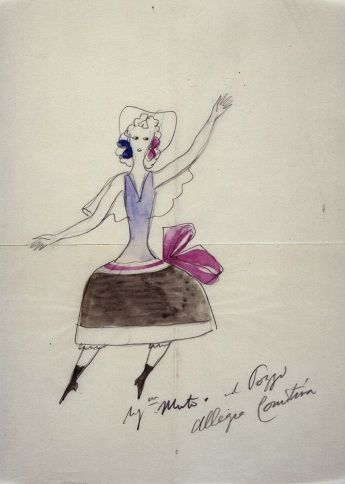 Scenografia e costumi per il balletto Festa Romantica di Piccoli al Teatro La Scala - Giò Ponti