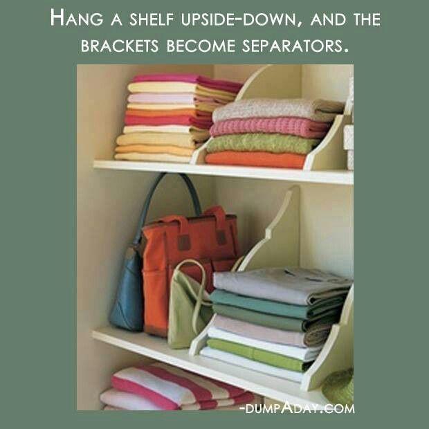 Upside bookshelf
