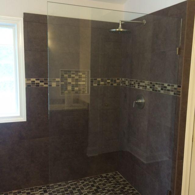 Beautiful dark brown tile shower, Atlanta, GA http//www