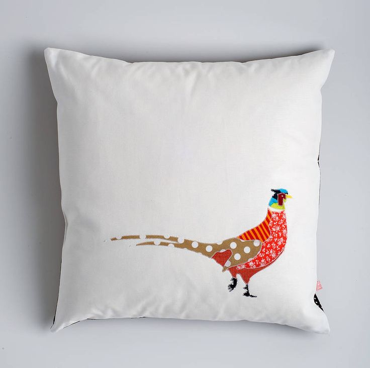 pheasant cushion by kindred rose | notonthehighstreet.com