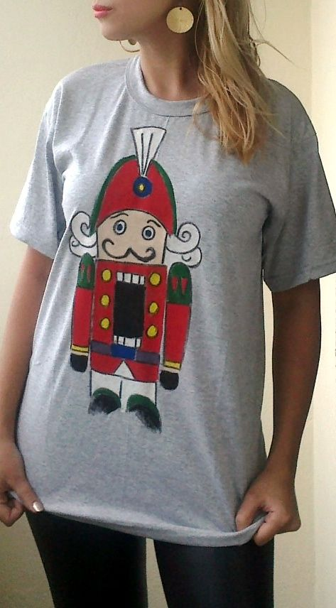 Toy soldier painted on t-shirt