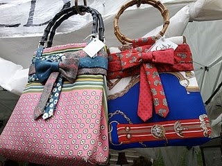 Handbags made from scarves and ties