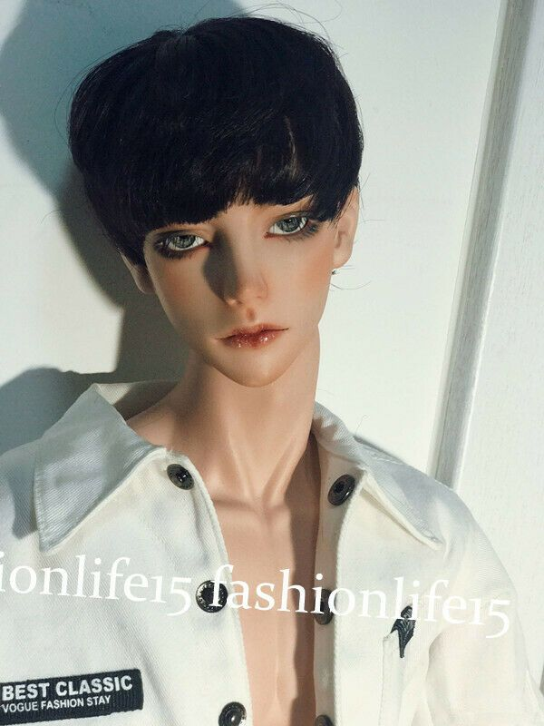 Eyes BJD 1//3 Doll Handsome Boy Ball Jointed Doll Bare Body Face MakeUp Head