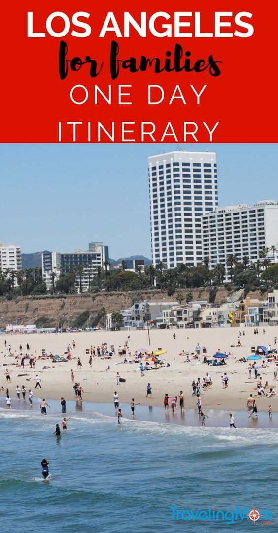 This 1 day itinerary for Los Angeles with kids includes a stroll along Hollywood Boulevard and swimming at Santa Monica beach.