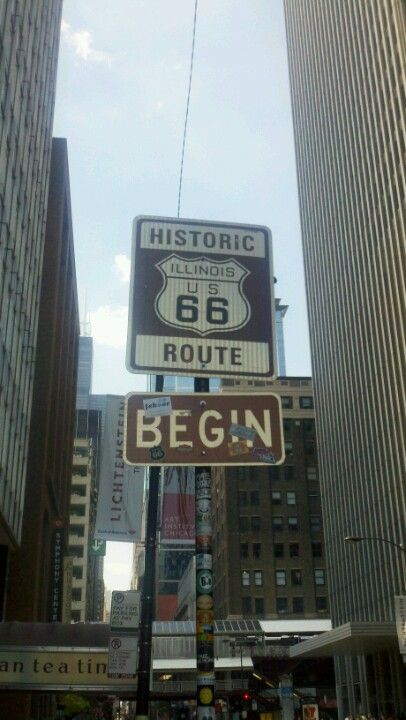 Route 66 road trip. I'm going to take my picture here and drive the whole thing. No schedule, just go at my pace. Enjoy the mother road.