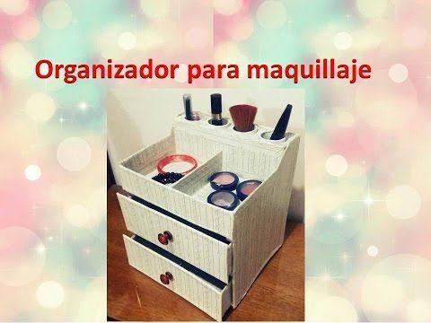 Organizador para maquillaje - YouTube