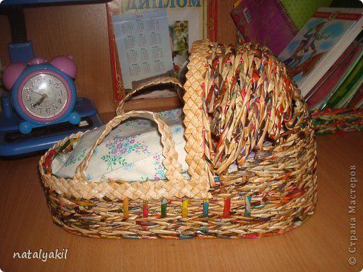 Поделка изделие Начало учебного года Плетение Поделки для дочки Трубочки бумажные фото 8