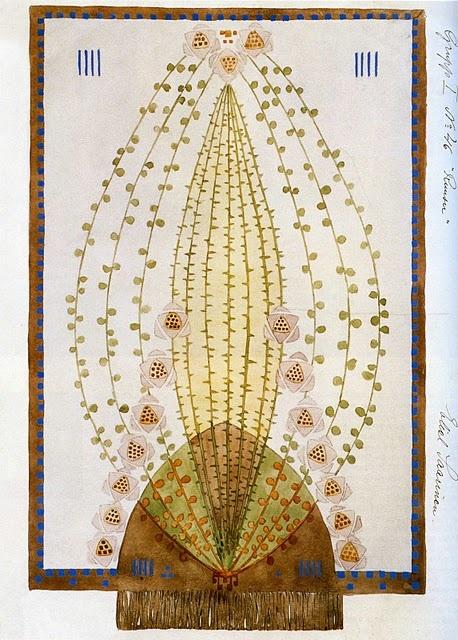 Eliel Saarinen - carpet design Arts and Crafts