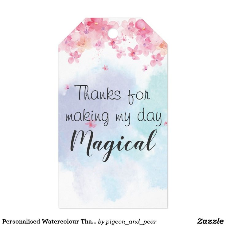 Personalised Watercolour Thank You Tags