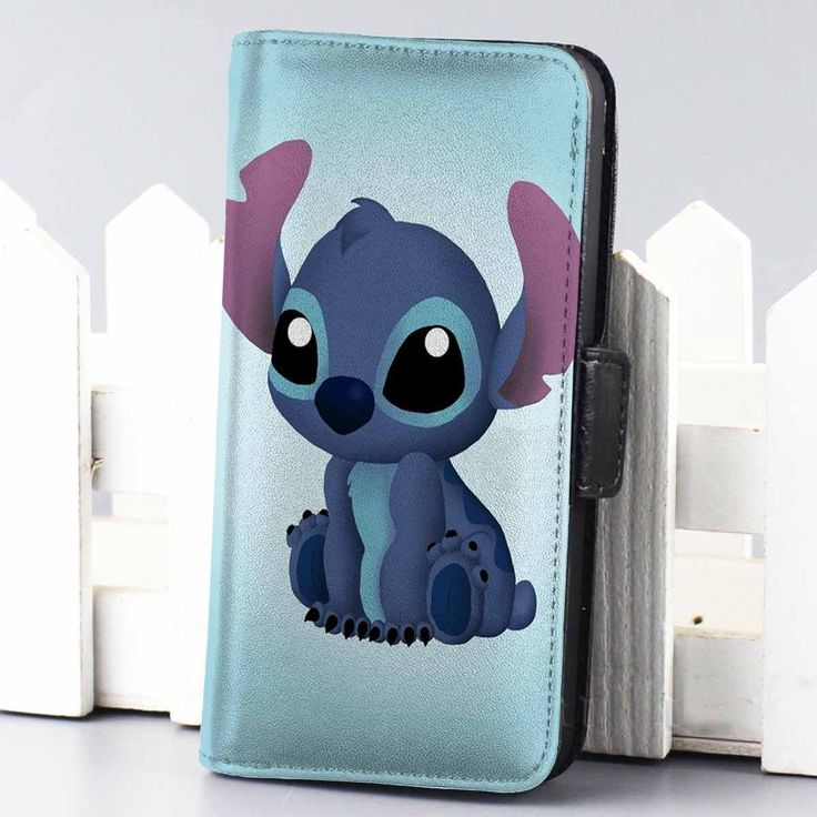 Disney Stitch wallet case for iphone 4,4s,5,5s,5c,6 and samsung galaxy s3,s4,s5 - LSNCONECALL.COM