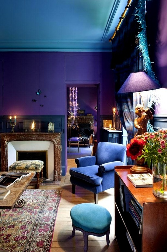 Pin By Sara Bi Druzbicki On Decorating Ideas Pinterest Purple Walls Rooms And Room Colors