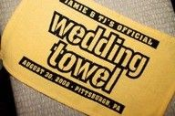 The Pittsburgh Terrible Wedding Towel-Perfect For Steeler fans To Welcome The Bride and Groom Into The Reception.  Pittsburgh Bride Talk Wedding Forum