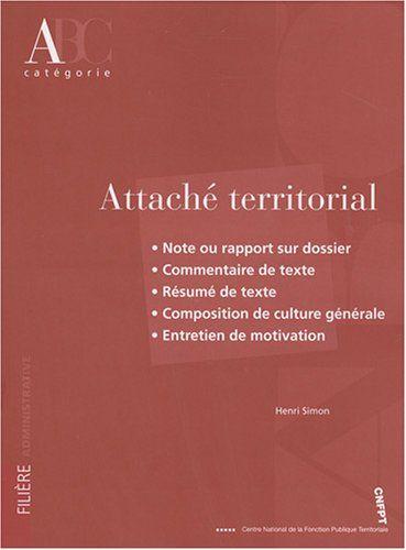 Attaché térritorial : Catégorie A de Henri Simon http://www.amazon.fr/dp/2841433099/ref=cm_sw_r_pi_dp_6crfwb0FP6WJ3