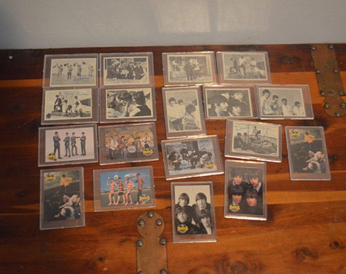 Vintage Collectible BEATLES Trading Cards Movie Scenes Band Photos Signatures Protective Cases 1993  Nice collection of Beatles trading cards. There are 18 total, each in a protective plastic case. In excellent condition. They have always been in the protectors.  Smoke free home. Check my other listings! I combine shipping.