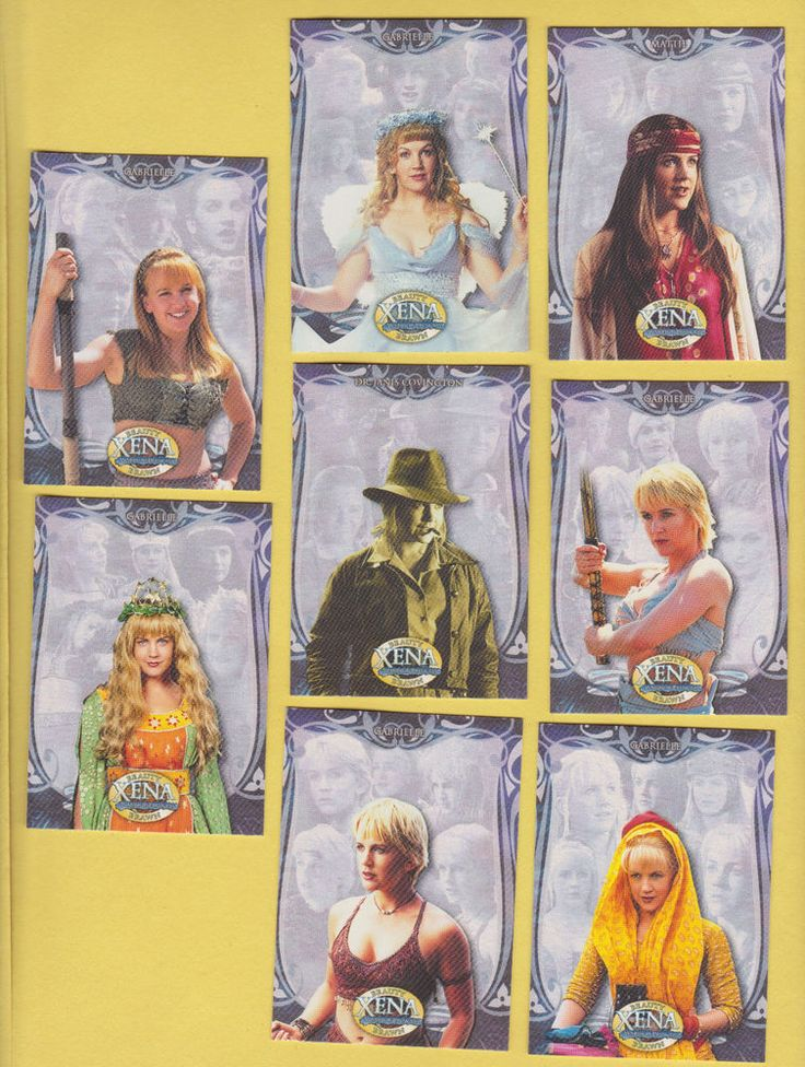 Lot of 8 Xena TV show trading cards Renee O'Connor oconnor Gabrielle Pub. 2002