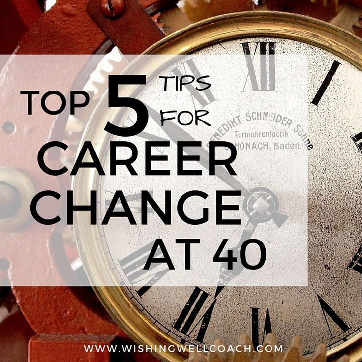 Top 5 top tips for career change at 40. #career #careerchange http://www.wishingwellcoach.com/career-change-at-40