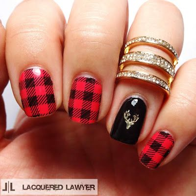 Lacquered Lawyer | Nail Art Blog: Friday Flannel