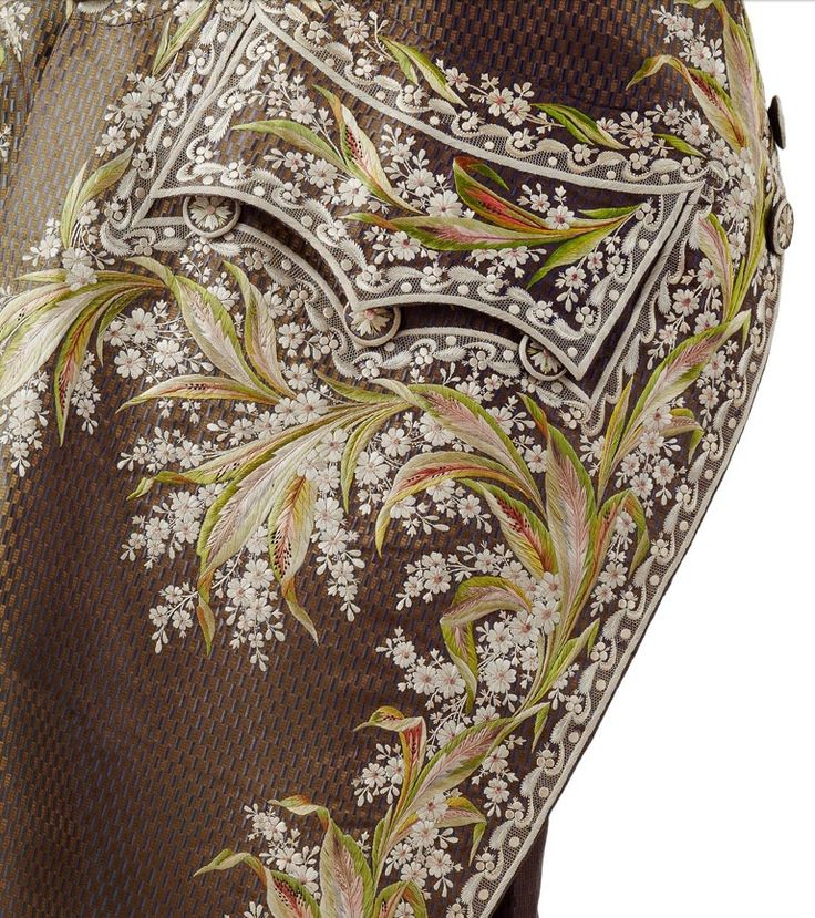 This magnificent embroidered jacket belonged to Marquis François de Beauharnais (1756-1846), older brother of Alexandre de Beauharnais, Josephine's first husband.