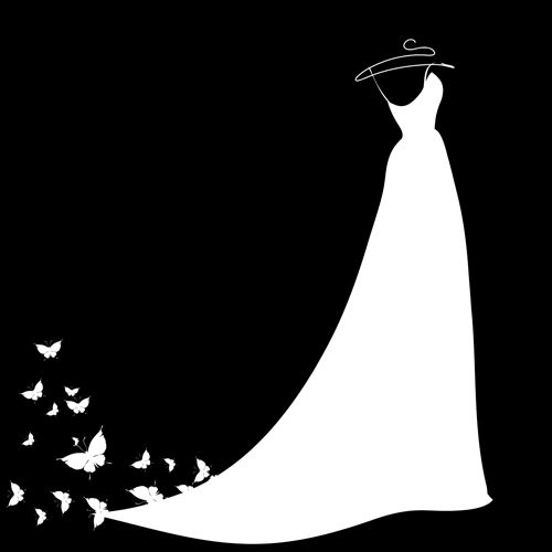 Wedding Dress Silhouette: 41 Best Bridal Shower Invitations Images On Pinterest