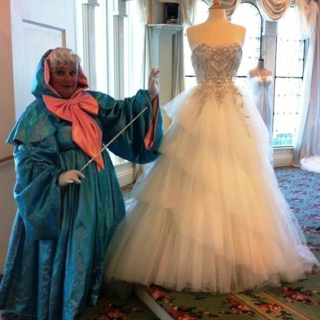Cinderella Style Wedding Gowns: Cinderella's Fairy Godmother With Her Wedding Dress From