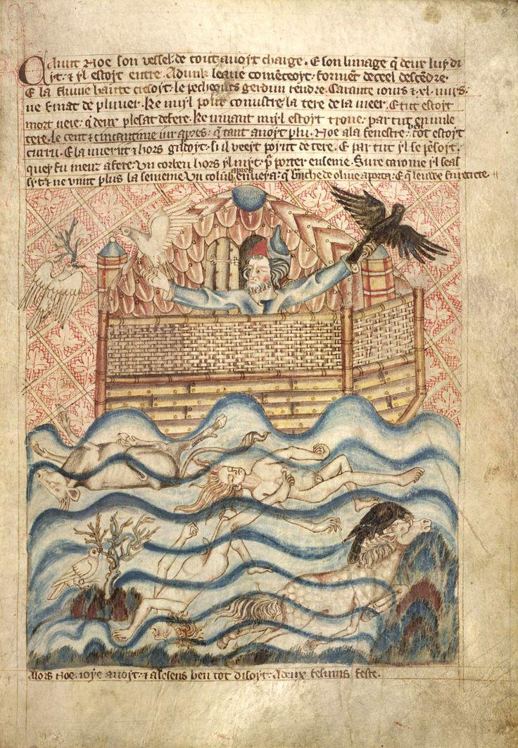 Noah in the Holkham Bible  http://www.pinterest.com/pangeartantique/ancient-scripts/