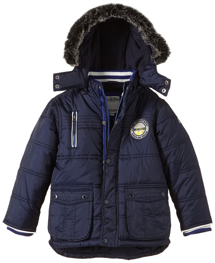 Salt & Pepper Jungen Jacke Outdoorjacket Firefighter, Gr. 92/98, Blau (Denim Blue 491)