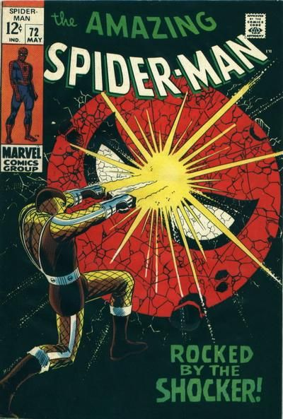 The Amazing Spider-Man #72 - Rocked by the Shocker. Art: John Romita Snr
