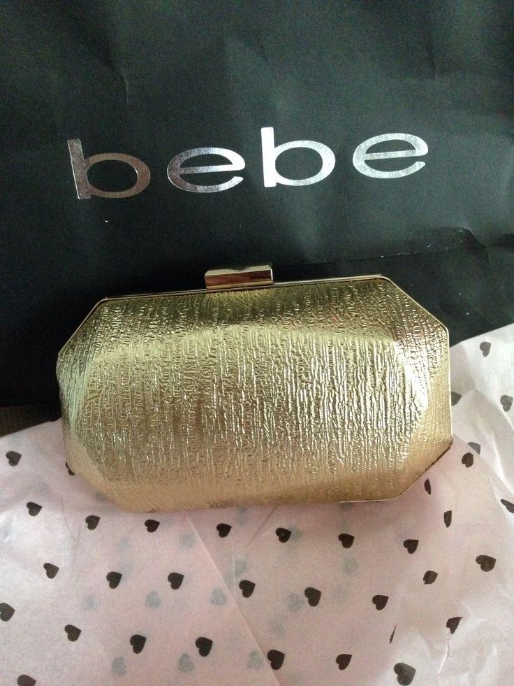 Bebe Gold clutch