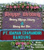 Karangan Bunga di Gereja HKBP Sudirman Medan