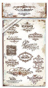 © Stempelglede® En liten hilsen. Umontert stempelplate.  http://www.stempelglede.com/stemplerenlitenhilsen.html