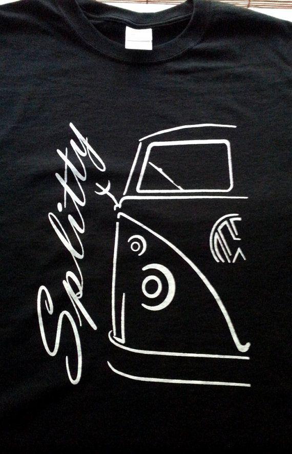 VW Volkswagen split window bus TShirt by JeffsScreenPrints on Etsy