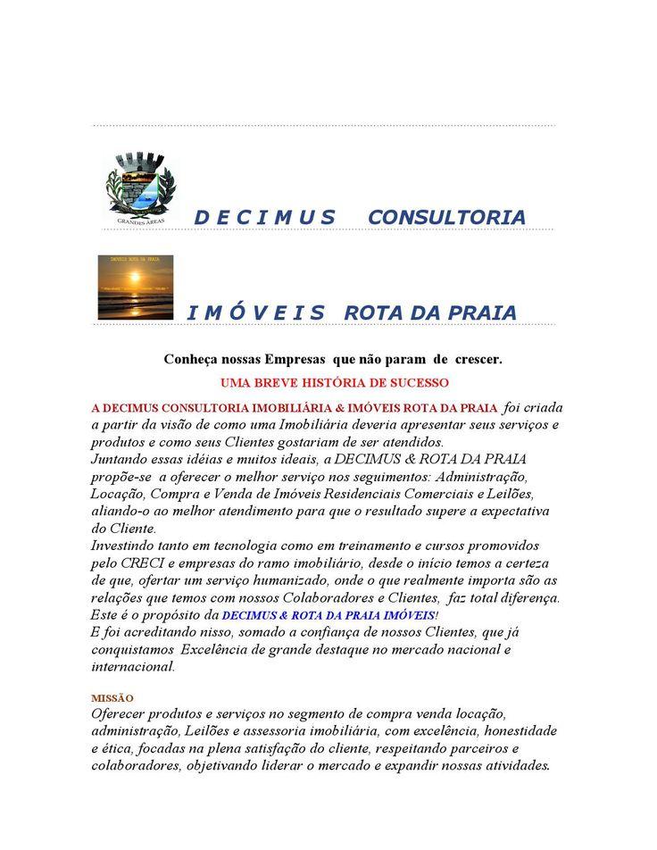 IMOVEIS ROTA DA PRAIA & DECIMUS GRANDES ÁREAS
