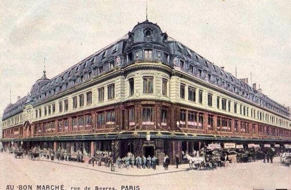 18 novembre 1852 naissance du 1er grand magasin le bon march ouvre rue de s vres paris https. Black Bedroom Furniture Sets. Home Design Ideas