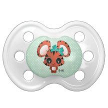 Tora the tiger BooginHead pacifier