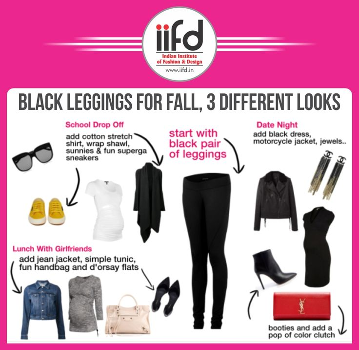 Black Leggings For Fall 3 Different Looks Fashion Designing Courses Contact 09041766699