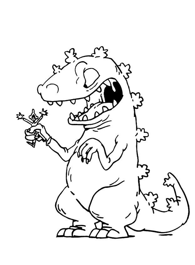 rugrats color page cartoon characters - Rugrats Characters Coloring Pages