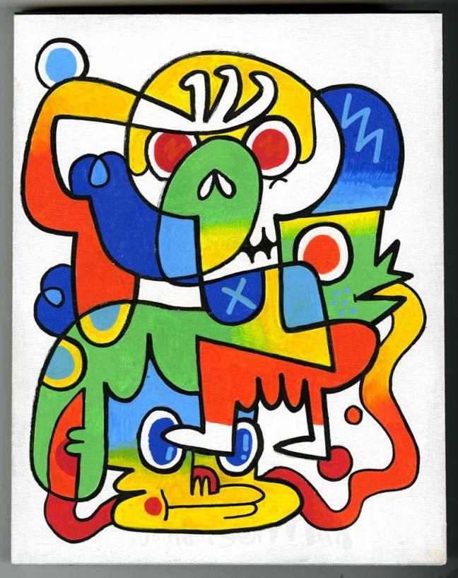 Panel Paintings | Jon Burgerman