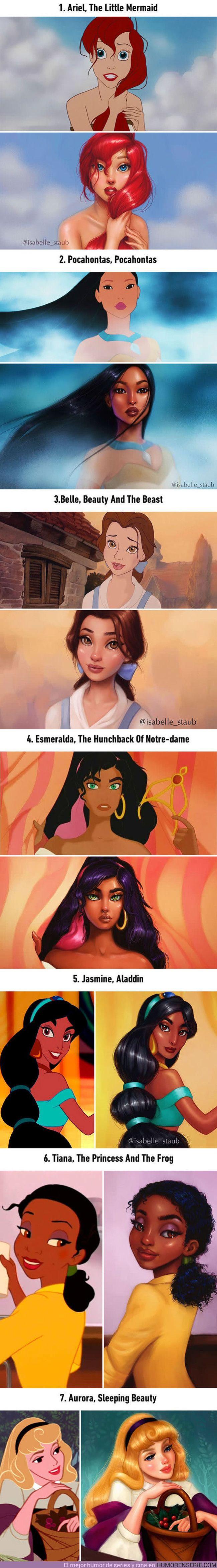 13027 - Princesas Disney recreadas digitalmente