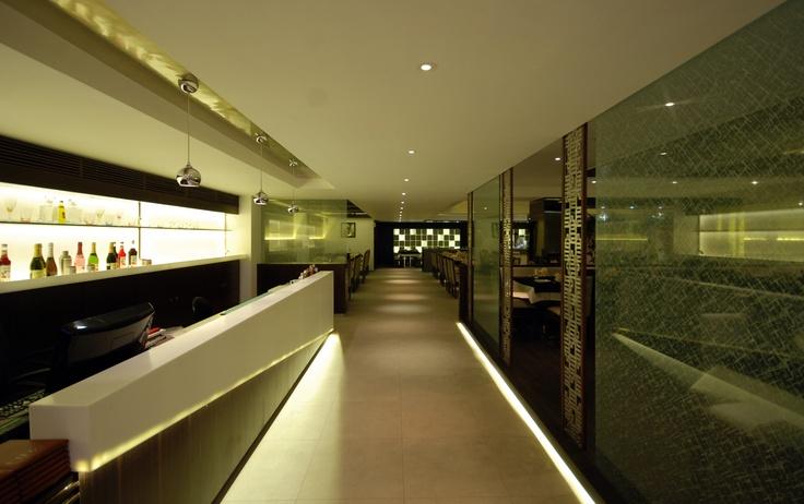 Hall Way towards the restaurant dining area at Enjoy Restaurant, Piplod.