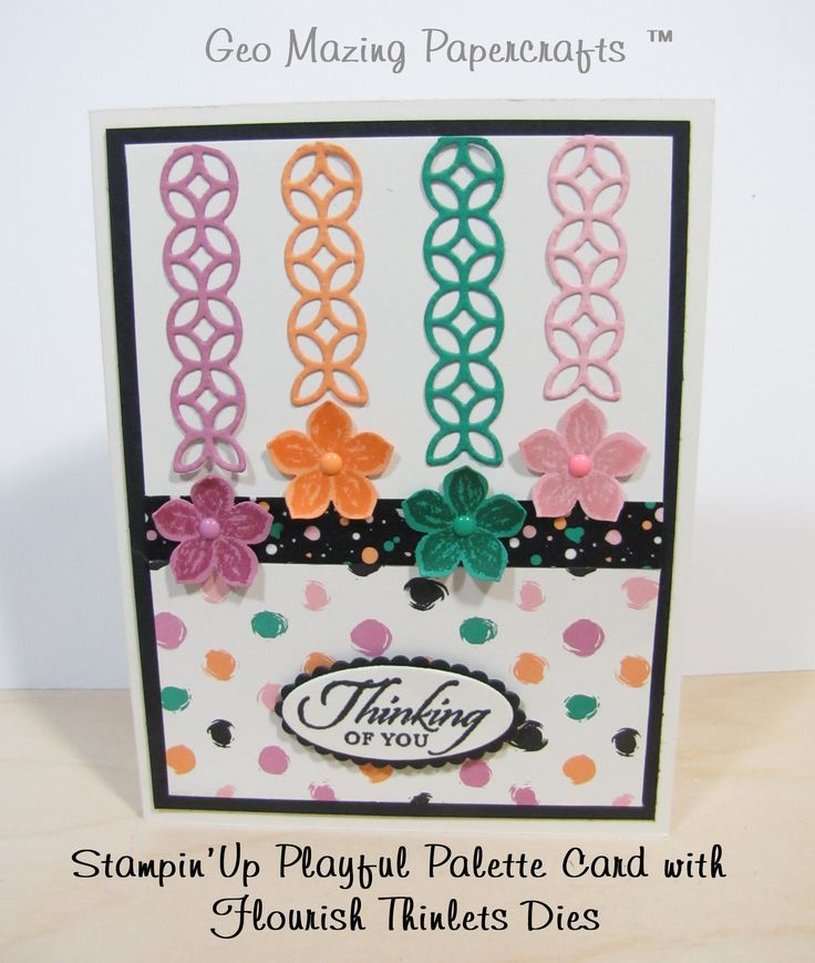 Jeanette Cobb: SU Playful Palette Card with Flourish Thinlits - Applying adhesive cleanly using Press & Seal Wrap