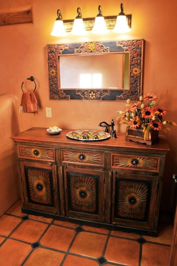 Best 25 southwestern bathroom sinks ideas on pinterest for Mexican themed bathroom ideas