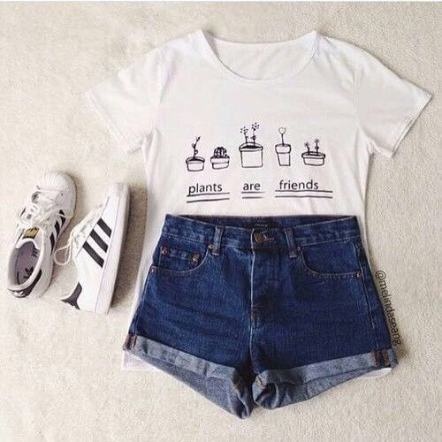 adidas, clothes, cool, cute, fashion, fashionista, friends, girl, outfit, plants, school, shorts, tumblr, avisas
