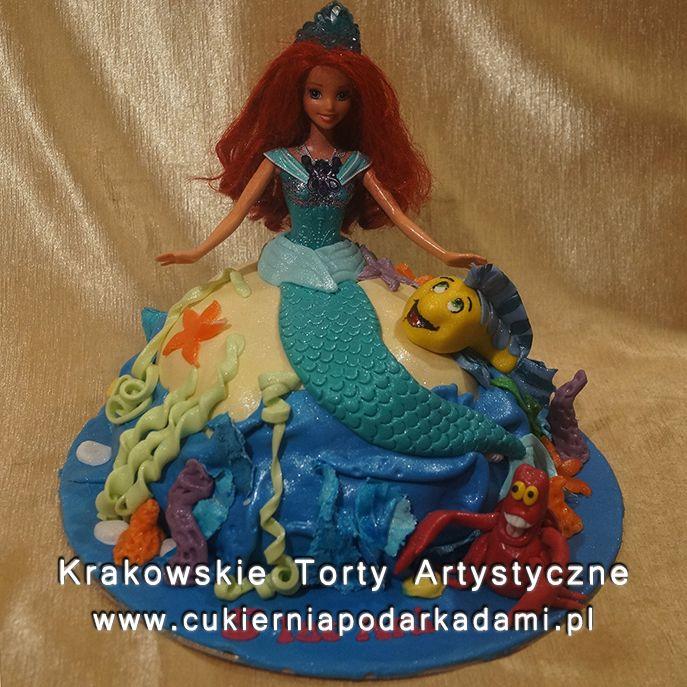 104. Tort syrenka Arielka. Ariel the mermaid cake.