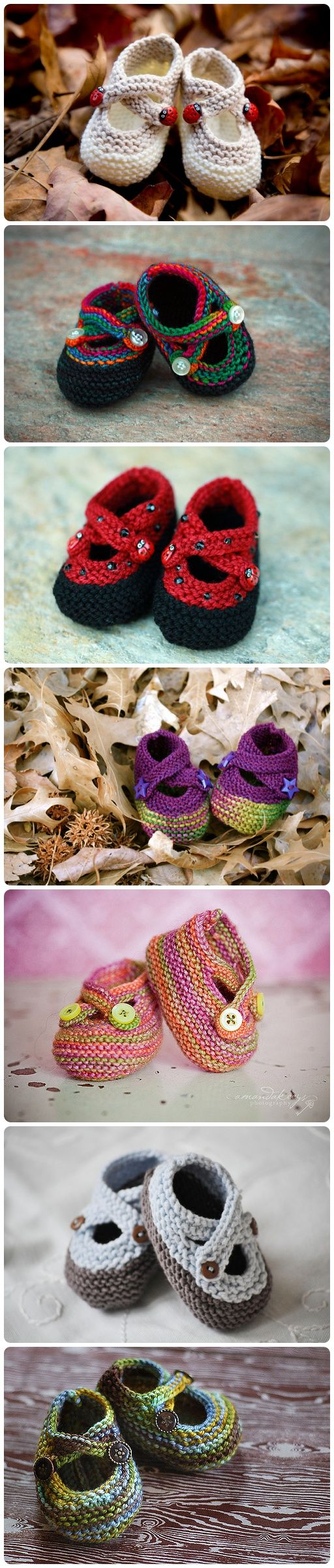 Knitted Saartje's Bootees with Free Pattern